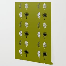 Tropical Fronds Monstera Design Wallpaper