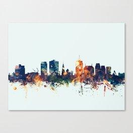 Christchurch New Zealand Skyline Canvas Print