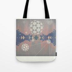 Natural Grid Tote Bag