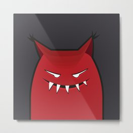 Evil Monster With Pointy Ears Metal Print