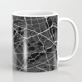 New York City Map of the United States - Dark Coffee Mug