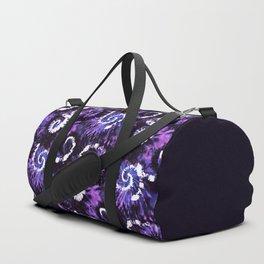 Purple Twisting Mess TieDye Duffle Bag