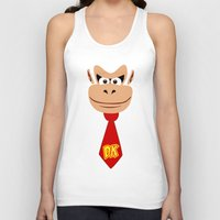 donkey kong Tank Tops featuring Donkey Kong Face Vector by SOULTHROW