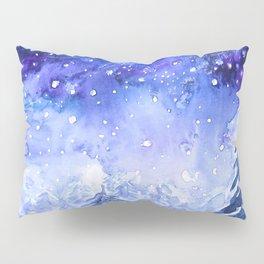 pine forest under galaxy Pillow Sham