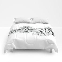 White Pine Cones Comforters