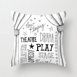 theater doodle Throw Pillow