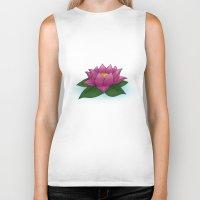 lotus flower Biker Tanks featuring Lotus by PlanetaryAesthetics