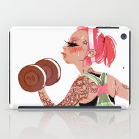 workout iPad Cases featuring Workout Girl by TCFischer