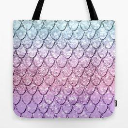 Mermaid Scales on Unicorn Girls Glitter #4 #shiny #pastel #decor #art #society6 Tote Bag