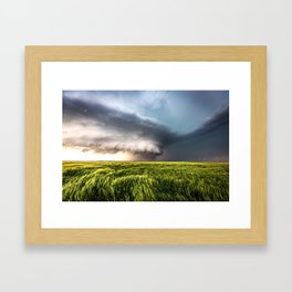 Leoti's Masterpiece - Incredible Storm in Western Kansas Framed Art Print