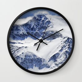 """Big mountains"". Aerial photography Wall Clock"