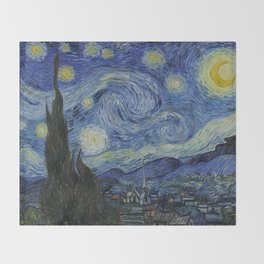 Van Gogh, Starry Night Throw Blanket