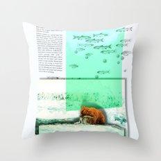 Alaskan Brown Bear Throw Pillow
