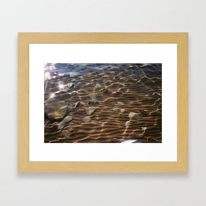 Lake Michigan Shore Framed Art Print