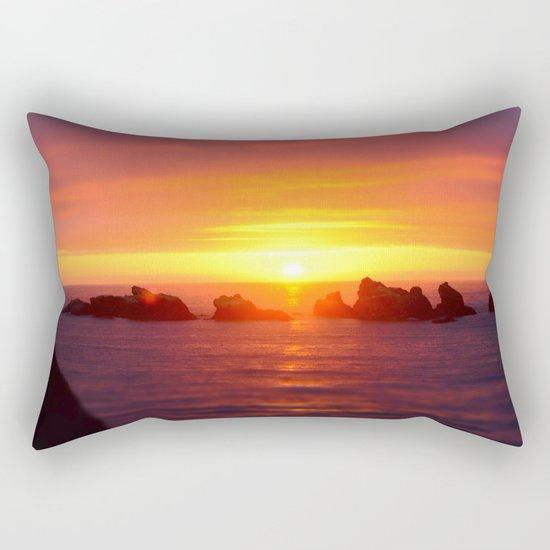Colorful ocean Rectangular Pillow