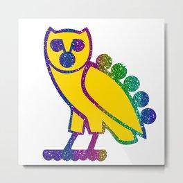 owl rainbow Metal Print