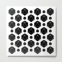 Die Die Die White Metal Print