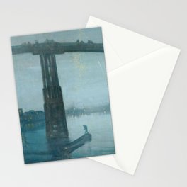 Nocturne - Blue and Gold - Old Battersea Bridge by James McNeill Whistler Stationery Cards