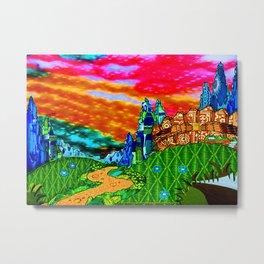 Rainbow Sky and Nature Scene Metal Print