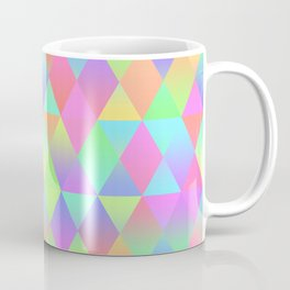 Colorful Geometric Pattern Prism Holographic Foil Triangle Texture Coffee Mug