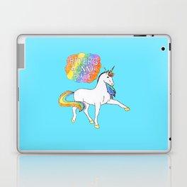 Light blue Unicorn Laptop & iPad Skin
