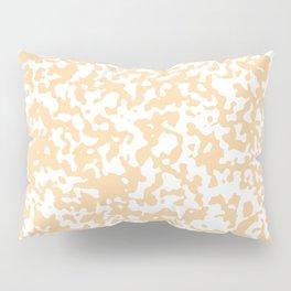 Small Spots - White and Sunset Orange Pillow Sham