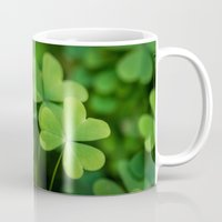 clover Mugs featuring Clover by Michelle McConnell
