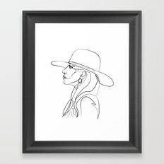 Lady Ga Framed Art Print