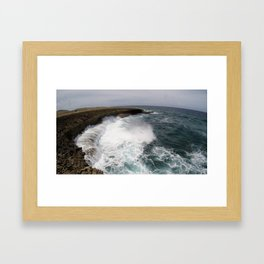 White Water Spray Framed Art Print