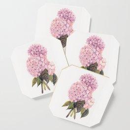 watercolor pink hydrangea Coaster