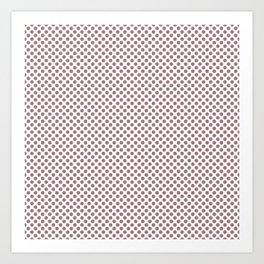 Nostalgia Rose Polka Dots Art Print