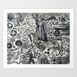 Black/White #2 Art Print