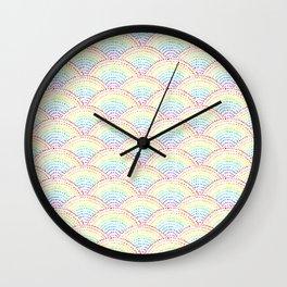 Ink dot scales - Rainbow Wall Clock