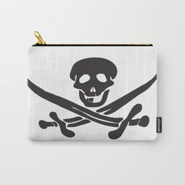 Black pattern for a Jolly Roger t-shirt Carry-All Pouch