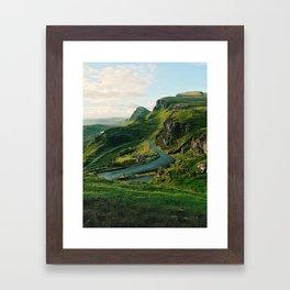 The Quiraing in Isle of Skye, Scotland Framed Art Print