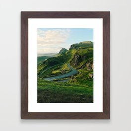 The Quiraing in Isle of Skye, Scotland Framed Art Print