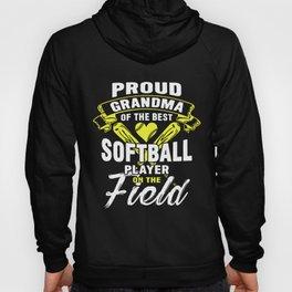 proud grandma of the best softball player on the field grandma t-shirts Hoody
