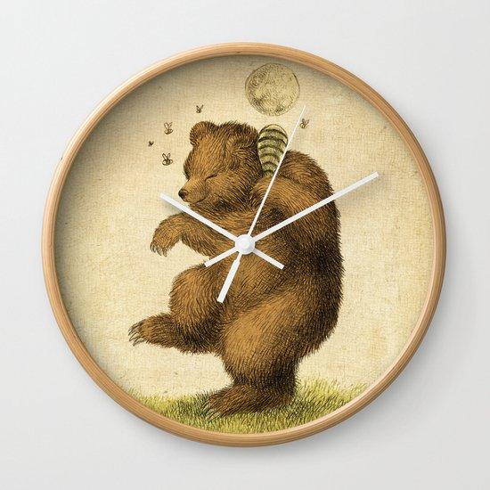 Honey Bear Wall Clock