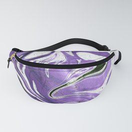Ultraviolet Marble Fanny Pack