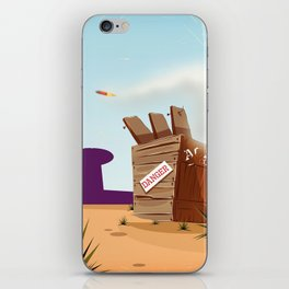 acme rocket crate iPhone Skin