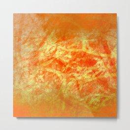 Microcosmos of Chaos (Orange Version) Metal Print