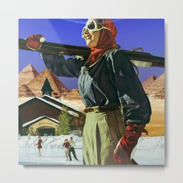 Vacation in Giza Metal Print