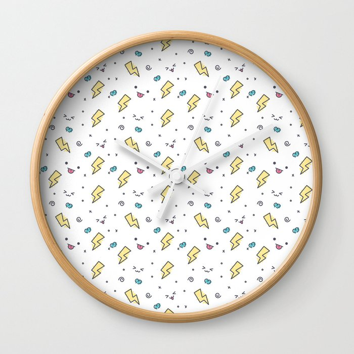 Thunders and sweet faces Wall Clock