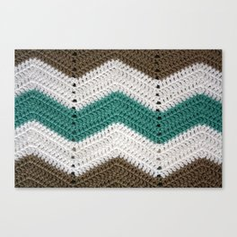 Diagonal Crochet Throw Canvas Print