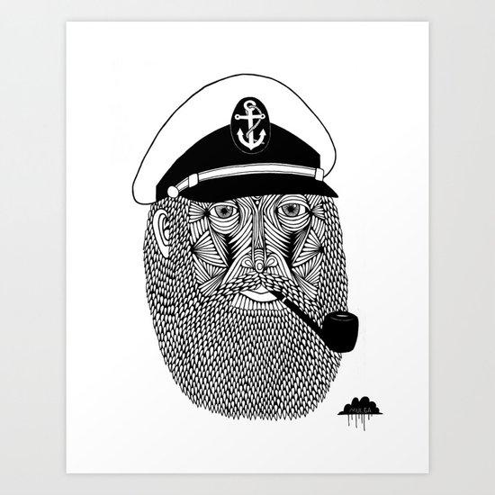 Captain Monkey Pants Of The Sea Art Print