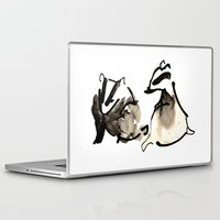 badger Laptop & iPad Skins featuring Badger Couple by Jen Moules