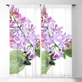 Lilac Love by Teresa Thompson Blackout Curtain