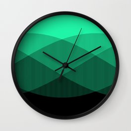Light Green to Black Ombre Signal Wall Clock