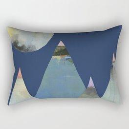 Full Moon Night Sky and Mountains Rectangular Pillow