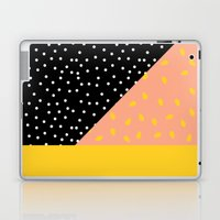 Peach Fuzz Black Polka Dot /// www.pencilmeinstationery.com Laptop & iPad Skin